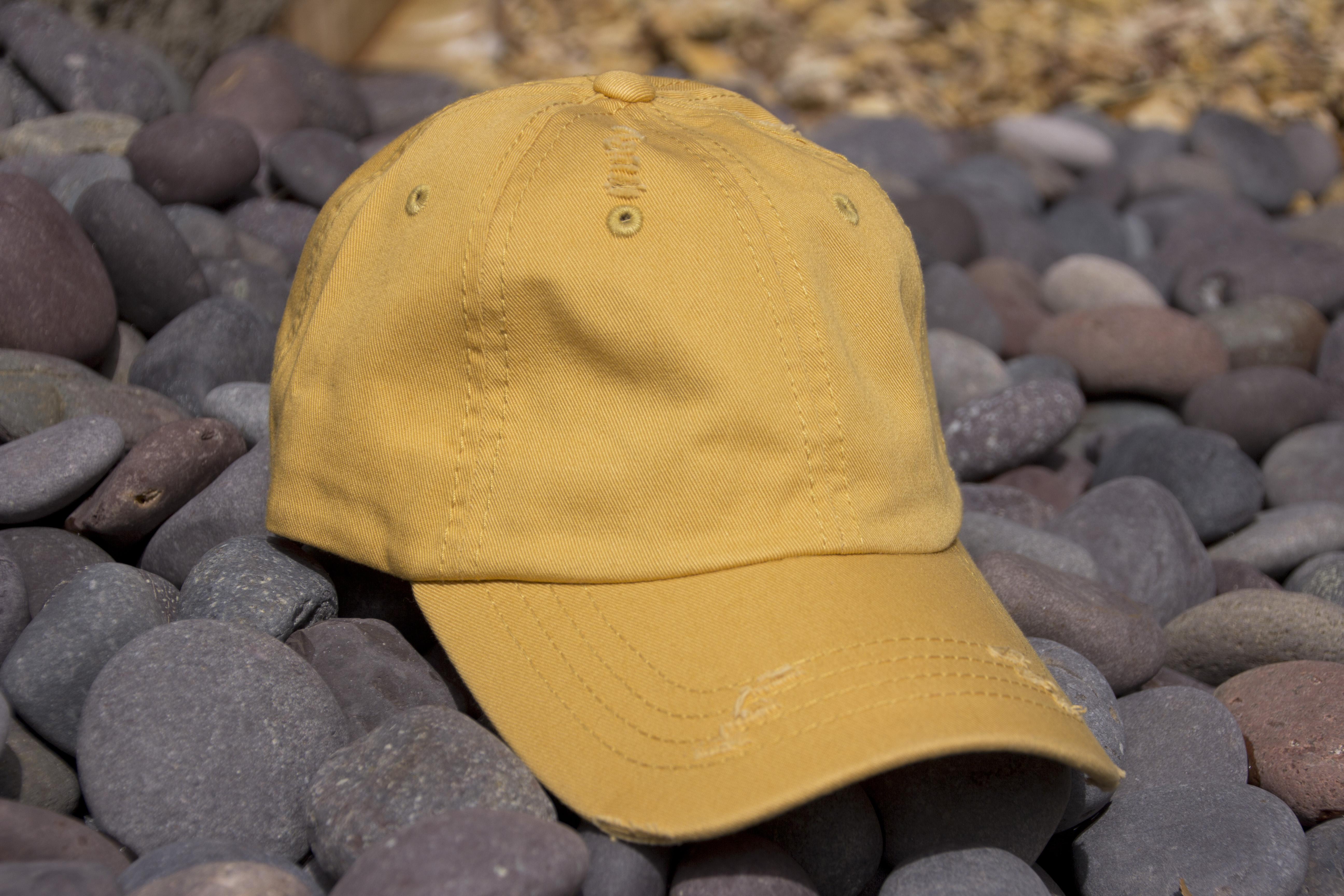 d4c386e09b9 Lot of 12 Mustard Vintage Frayed Dad Hats